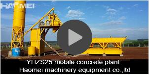 25m3/h Mobile Concrete Mixing Plant