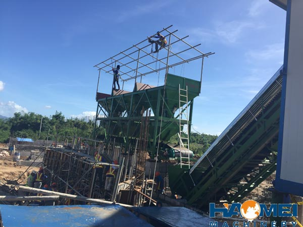 haomei 60m3/h stationary concrete batching plant